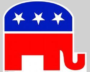 Republican Elephant Lifesize Standup
