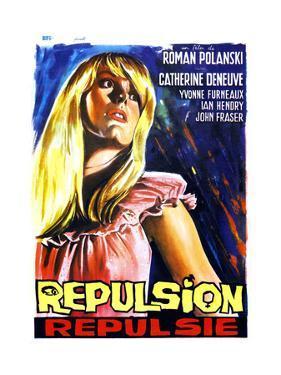 Repulsion, (AKA Repulsie), Belgian Poster Art, Catherine Deneuve, 1965