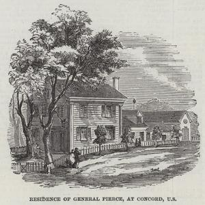 Residence of General Pierce, at Concord, US