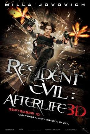 Resident Evil Afterlife (Milla Jovovich) Movie Poster