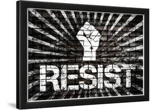 Resist Fist Political Graffiti Poster
