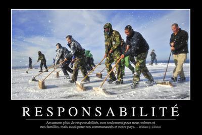 Responsabilité: Citation Et Affiche D'Inspiration Et Motivation