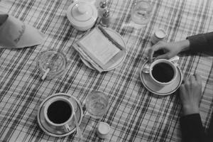 Restaurant Still Life of Coffee and Cigarettes. Lufkin, Texas, April 1939