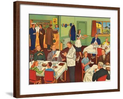 Restaurant--Framed Art Print