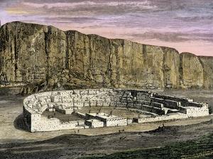 Restoration of Pueblo Bonito, Ancestral Puebloan/Anasazi Site in Chaco Canyon, New Mexico, 1250 AD
