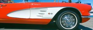 Restored Red 1959 Corvette, Fender Close-Up, Portland, Oregon