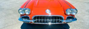 Restored Red 1959 Corvette, Front Close-Up, Portland, Oregon