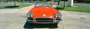 Restored Red 1959 Corvette, Front View, Portland, Oregon