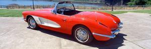 Restored Red 1959 Corvette, Side View, Portland, Oregon