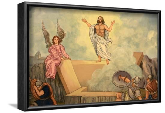 Resurrection of Christ, Domancy, Rhone Alpes, France-Godong-Framed Photographic Print
