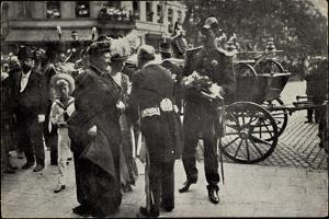 Retour De Prince Albert, 16 Aout 1909, À La Gare
