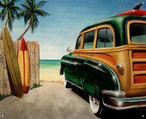 Retro Auto Beach Woody