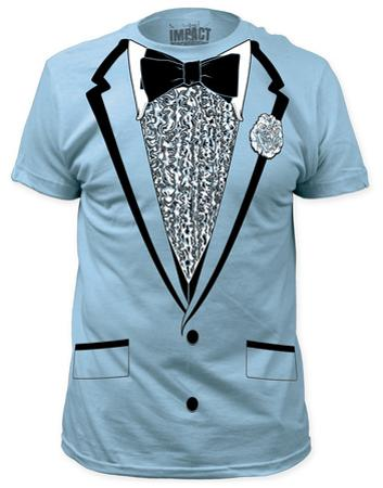 Retro Prom Costume Tee - Light Blue (slim fit)