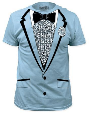 Retro Prom Costume Tee - Light Blue (slim fit)