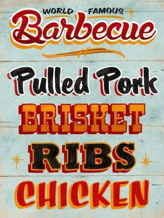Barbeque Board Distressed