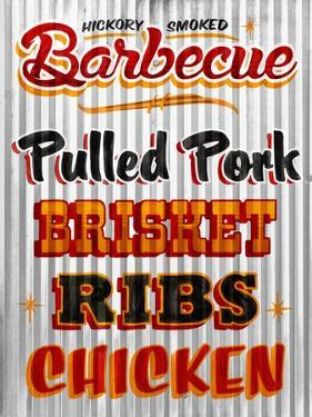 Barbeque Hickory Smoked Corregate Metal by Retroplanet