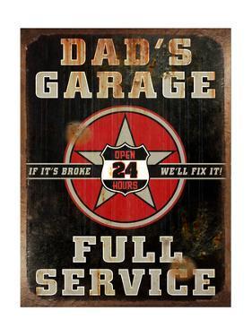 Dads Garage Vert by Retroplanet