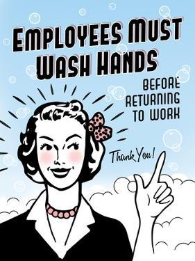 Employees Wash Hands by Retroplanet