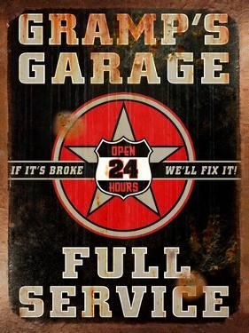 Gramps Garage Rusted Vertical by Retroplanet