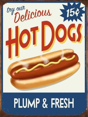 Hot Dogs Delicious by Retroplanet