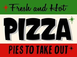 Hot Pizza Horiz by Retroplanet