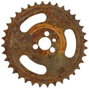 Rusty Fine Tooth Gear by Retroplanet