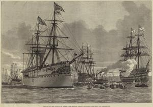 Return of the Prince of Wales, the Serapis Coming Alongside the Jetty at Portsmouth