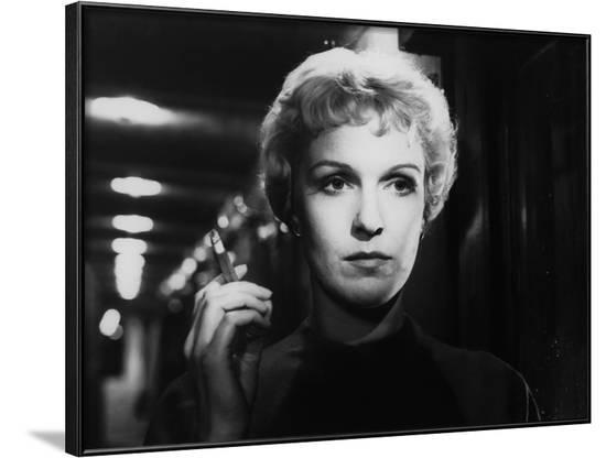 Reve by Femmes KVINNODROM by IngmarBergman with Eva Dahlbeck, 1955 (b/w photo)--Framed Photo