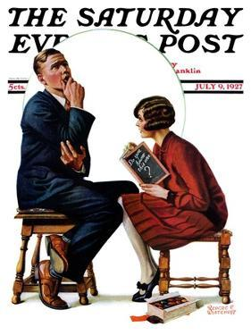 """Guessing Game,"" Saturday Evening Post Cover, July 9, 1927 by Revere F. Wistehoff"