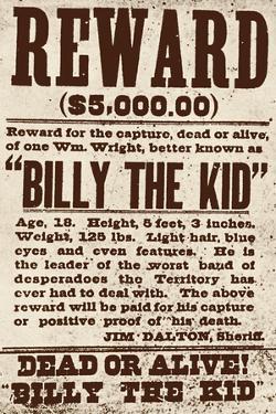 Reward Billy the Kid