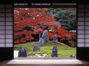 Sand Stone Garden, Komyo-In, Kyoto, Japan by Rex Butcher