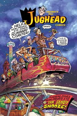 Archie Comics Cover: Jughead No.204 Jughead Jones: Semi-Private Eye Pt 3 A Tan & Sandy Snooze! by Rex Lindsey