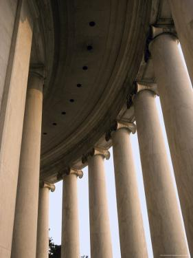 Columns Surround the Jefferson Statue at the Jefferson Memorial by Rex Stucky