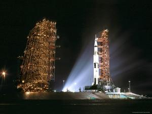 Pre-Launch Roll Back of Support Structures For Apollo 12 by Rex Stucky