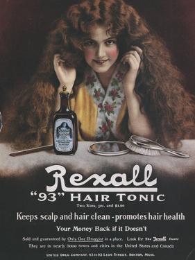 Rexall, Hair Shampoo Tonic, USA, 1910