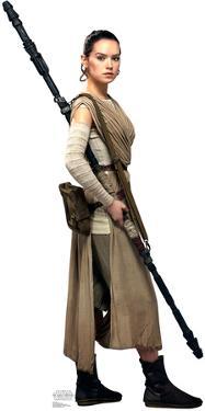 Rey - Star Wars VII: The Force Awakens Lifesize Cardboard Cutout
