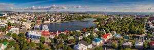 Reykjavik, Iceland, This image was shot using a drone.