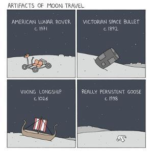 Artifacts of Moon Travel by Reza Farazmand
