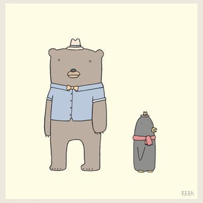 Bear and Penguin Portrait