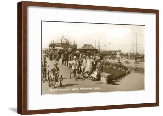 Rhyl, Queen Gardens 1933--Framed Giclee Print