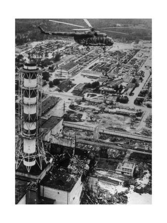 Aerial View of Chernobyl Soon After the Accident.