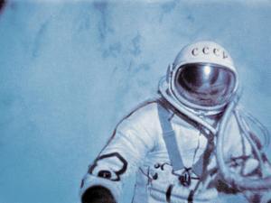 Alexei Leonov, First Space Walk, 1965 by Ria Novosti