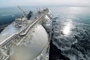 Liquefied Natural Gas Tanker by Ria Novosti