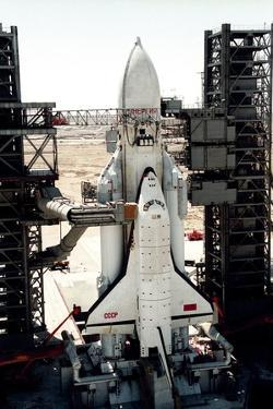 Russian Buran Space Shuttle on Launchpad by Ria Novosti