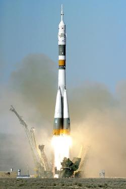 Soyuz TMA-12 Launch, April 2008 by Ria Novosti