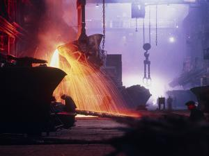 Sparks Fly In a Foundry During Copper Smelting by Ria Novosti