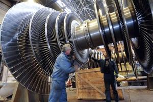 Turbine Rotor Assembly Area by Ria Novosti