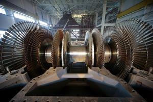 Turbine Rotor Installation by Ria Novosti