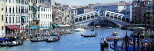 Rialto Bridge and Grand Canal Venice Italy