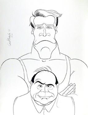 Twins (Schwartzenegger & DeVito) by Ricardo Castaneda